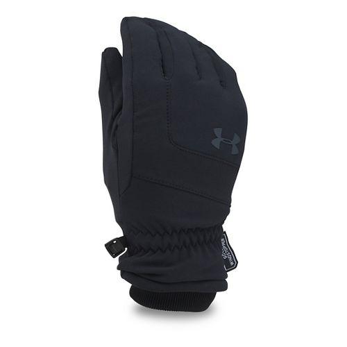 Mens Under Armour Gore Windstopper Glove Handwear - Black/Black XL
