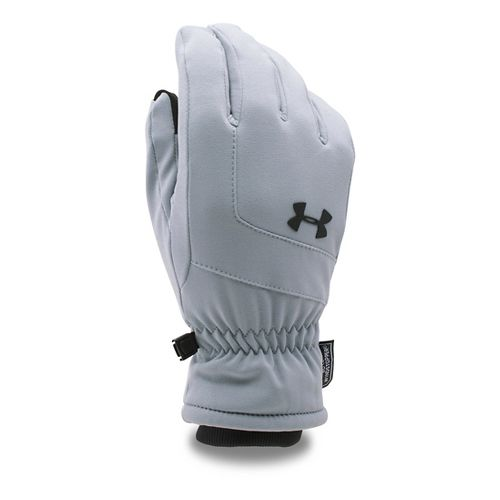 Mens Under Armour Gore Windstopper Glove Handwear - Steel/Black M