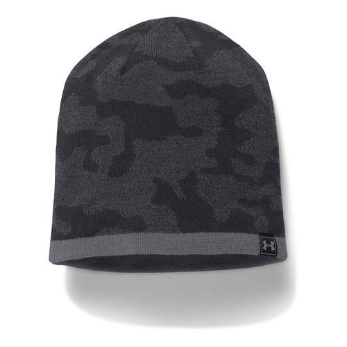 Mens Under Armour Reversible Beanie Headwear - Black/Graphite