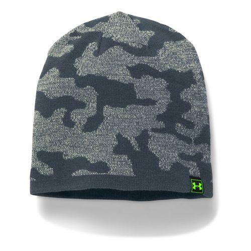 Mens Under Armour Reversible Beanie Headwear - Steel/Stealth Grey