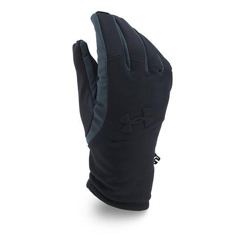 Mens Under Armour Softshell Glove Handwear - Black/Black L