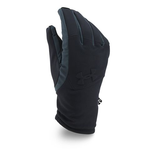 Mens Under Armour Softshell Glove Handwear - Black/Black M