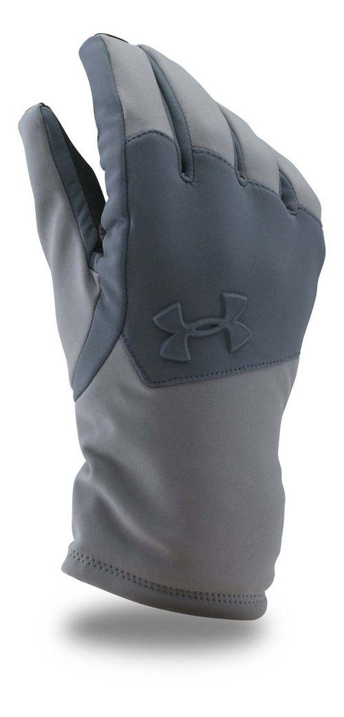 Mens Under Armour Softshell Glove Handwear - Graphite/Grey S