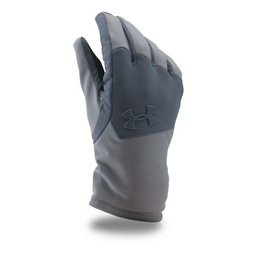 Mens Under Armour Softshell Glove Handwear - Graphite/Grey L