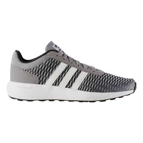adidas Kids Cloudfoam Race Casual Shoe - Black/White/Grey 1Y