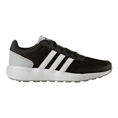adidas Cloudfoam Race Casual Shoe - Black/White 6Y