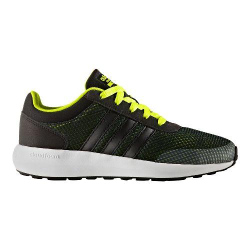 adidas Cloudfoam Race Casual Shoe - Black/Yellow 1.5Y