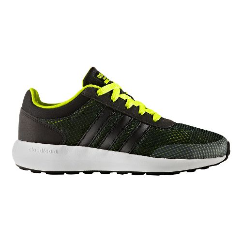 adidas Cloudfoam Race Casual Shoe - Black/Yellow 5Y