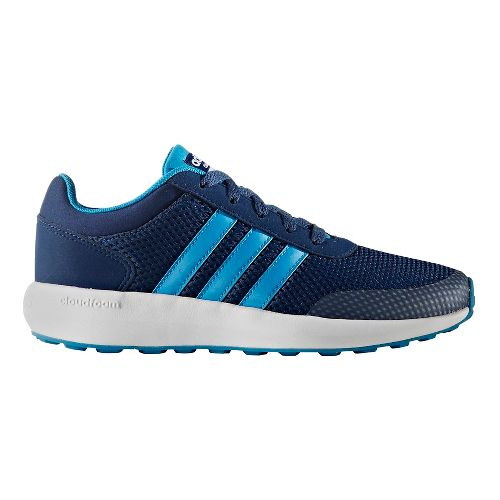 adidas Cloudfoam Race Casual Shoe - Blue/White 4Y