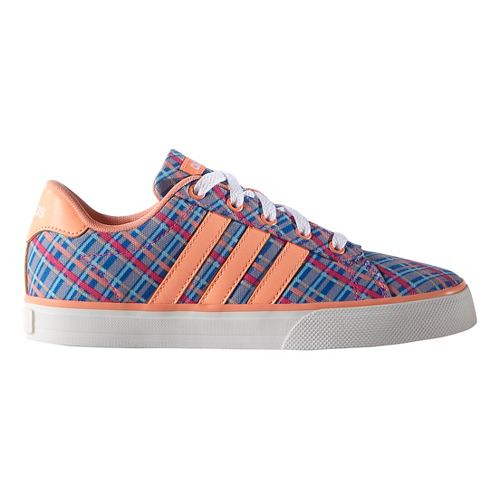 adidas Kids Daily Casual Shoe - Blue/Glow/White 6Y