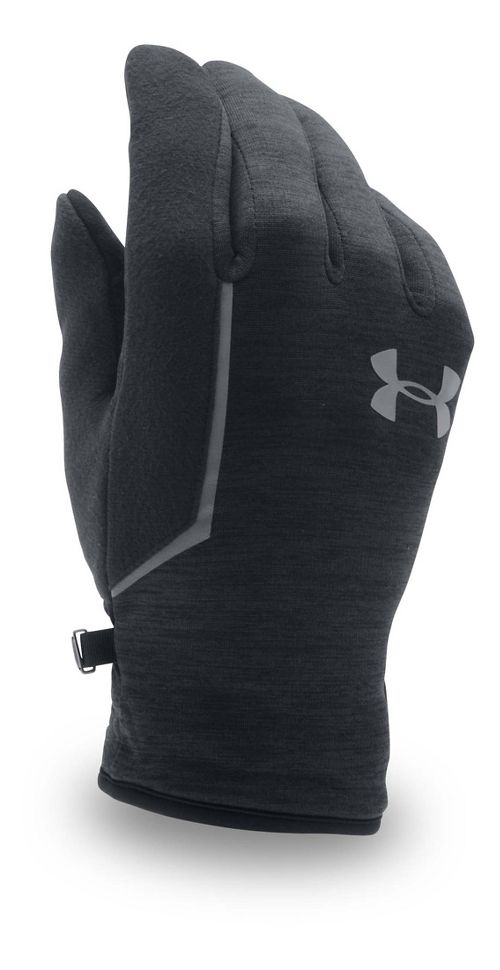 Mens Under Armour No Breaks Armour Fleece Glove Handwear - Black/Black S