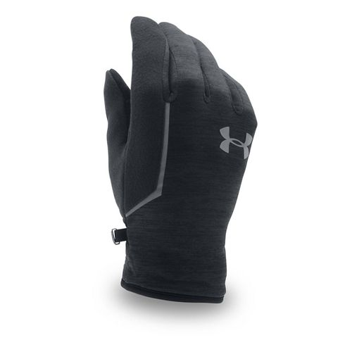 Mens Under Armour No Breaks Armour Fleece Glove Handwear - Black/Black XL