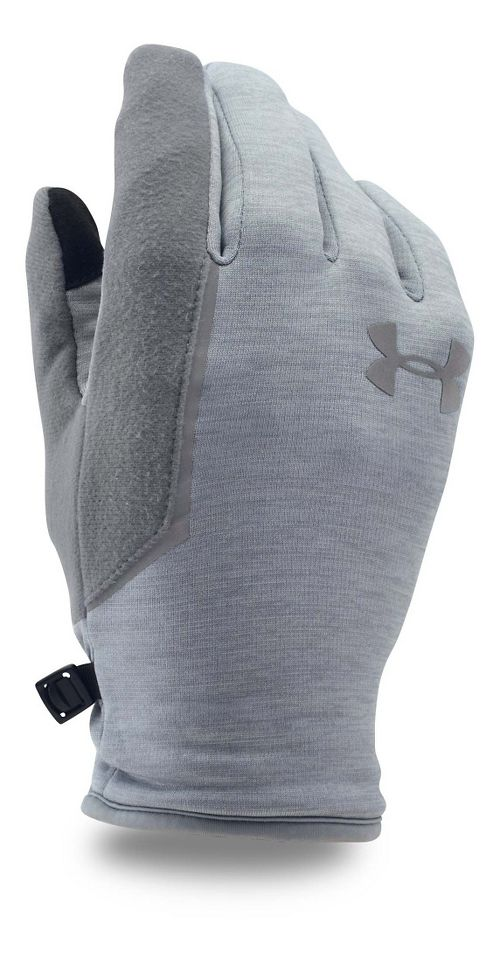 Mens Under Armour No Breaks Armour Fleece Glove Handwear - Steel/Steel L