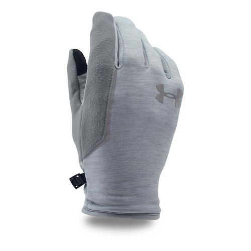 Mens Under Armour No Breaks Armour Fleece Glove Handwear - Steel/Steel M
