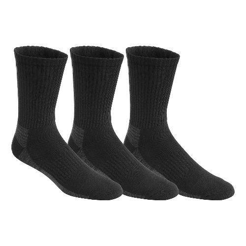 ASICS Contend Training Crew 9 Pack Socks - Black L