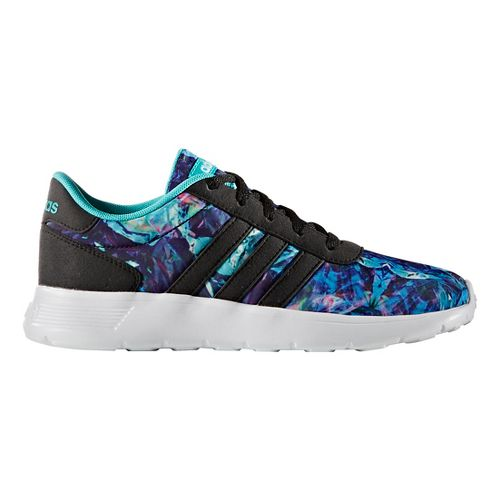 adidas Kids Lite Racer Casual Shoe - Black/White/Multi 4Y