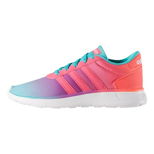 adidas Lite Racer Casual Shoe - Mint/Pink 3.5Y