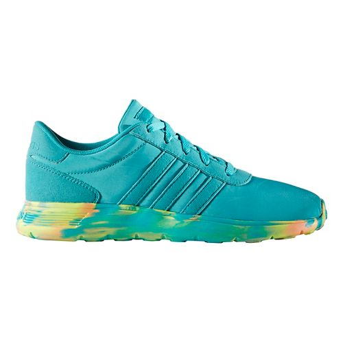 Kids adidas Lite Racer Casual Shoe - Shock Green/White 1Y