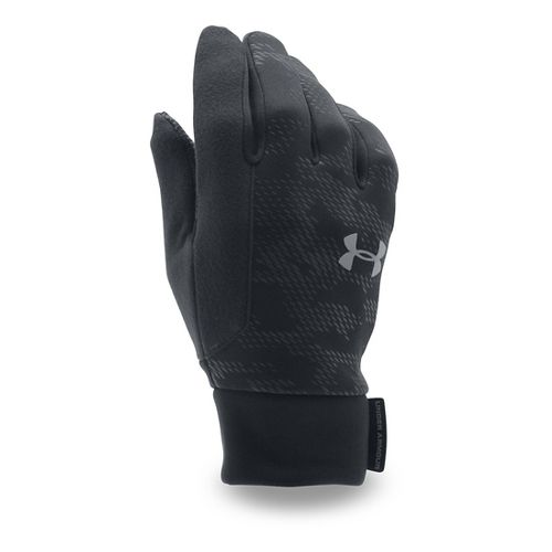 Mens Under Armour No Breaks CGI Liner Handwear - Black/Black L
