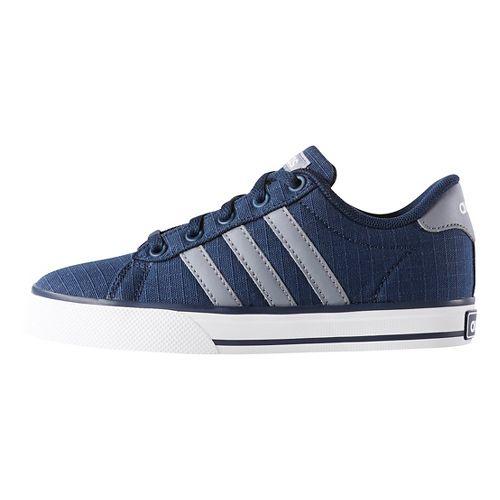 Kids adidas SE Daily Vulc Casual Shoe - Navy/Grey/White 13C