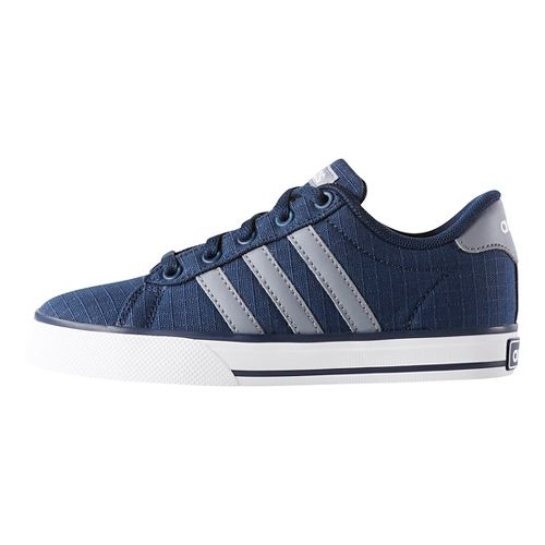 adidas Kids SE Daily Vulc Casual Shoe - Navy/Grey/White 7Y
