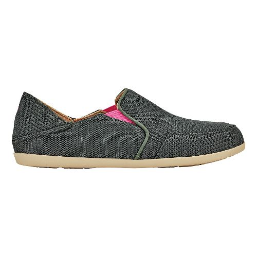 Womens OluKai Waialua Mesh Casual Shoe - Dark Shadow/Magenta 7