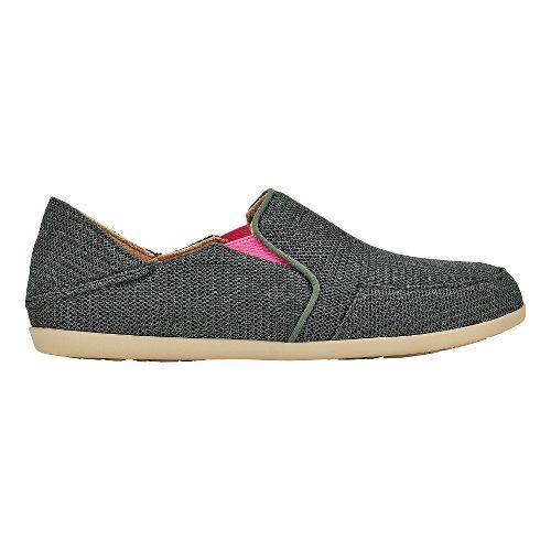 Womens OluKai Waialua Mesh Casual Shoe - Dark Shadow/Magenta 8.5