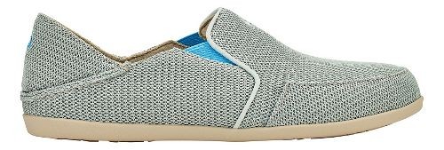 Womens OluKai Waialua Mesh Casual Shoe - Pale Grey/Tide Blue 10