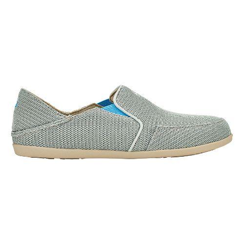 Womens OluKai Waialua Mesh Casual Shoe - Pale Grey/Tide Blue 6.5