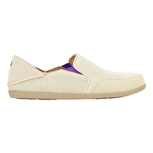 Womens OluKai Waialua Mesh Casual Shoe - Off White/Dahlia 10