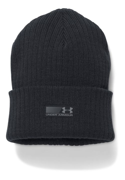 Mens Under Armour Truck Stop Beanie Headwear - Black