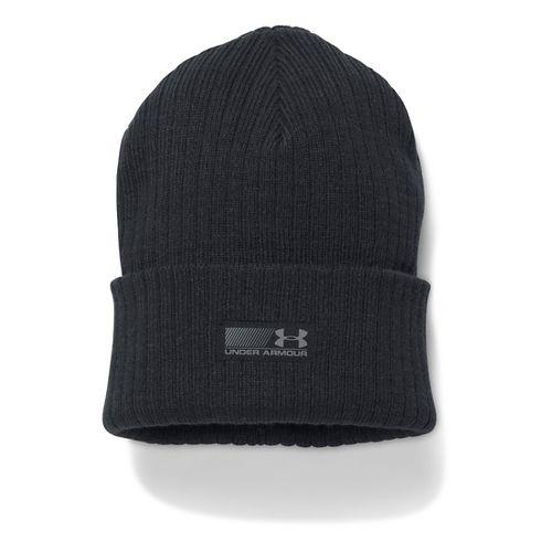 Mens Under Armour Truck Stop Beanie Headwear - Black