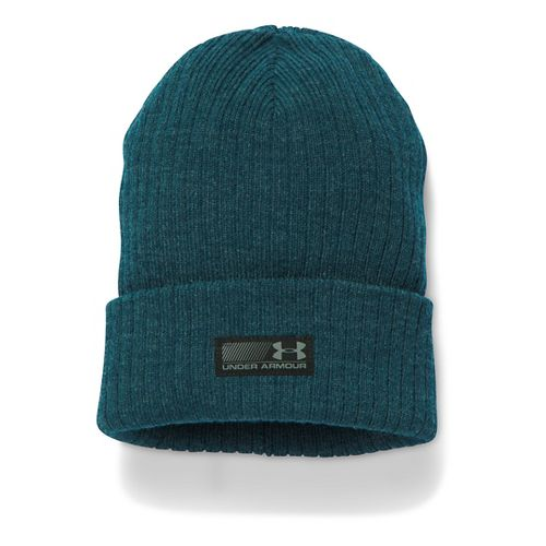 Mens Under Armour Truck Stop Beanie Headwear - Nova Teal