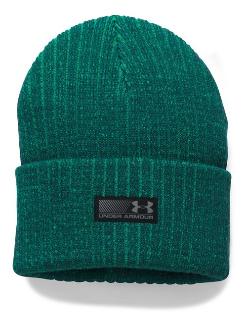 Mens Under Armour Truck Stop Beanie Headwear - Arden Green