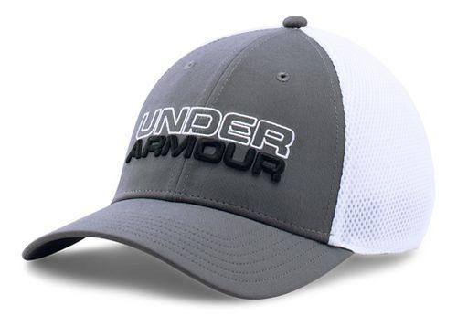 Mens Under Armour Cap Headwear - Graphite/White L/XL