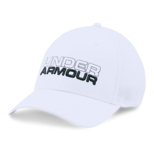 Mens Under Armour Cap Headwear - White/White M/L