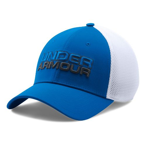 Mens Under Armour Cap Headwear - Blue Marker/White L/XL