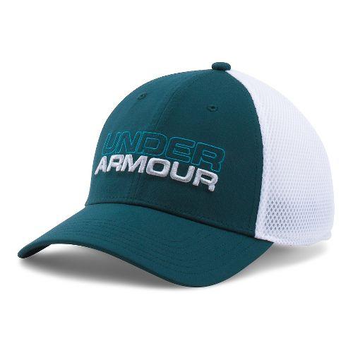 Mens Under Armour Cap Headwear - Nova Teal/Grey L/XL