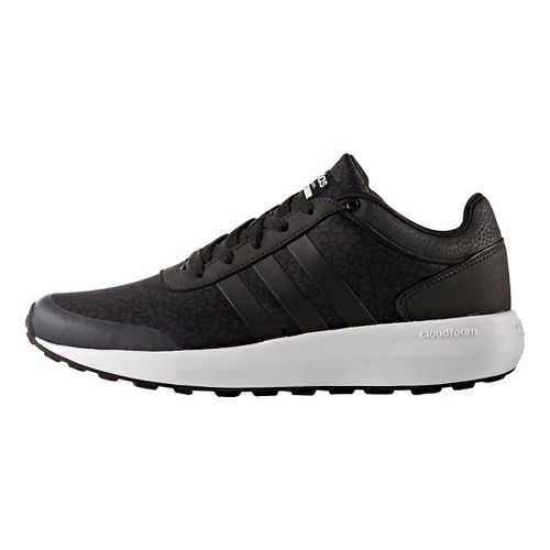 Womens adidas Cloudfoam Race Casual Shoe - Black/White 7