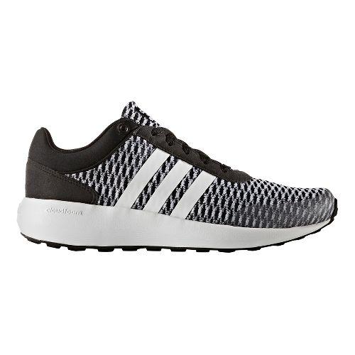 Womens adidas Cloudfoam Race Casual Shoe - Core Black/White 11