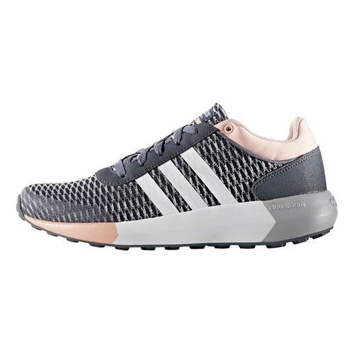 Womens adidas Cloudfoam Race Casual Shoe - Grey/White/Pink 7