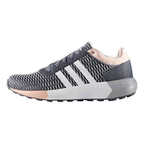 Womens adidas Cloudfoam Race Casual Shoe - Grey/White/Pink 8.5
