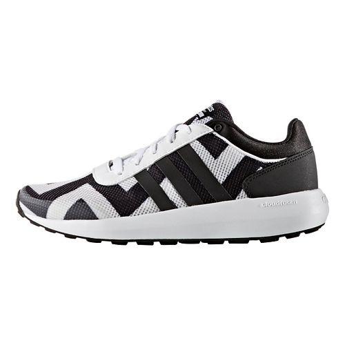 Womens adidas Cloudfoam Race Casual Shoe - White/Black 6.5