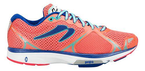 Womens Newton Running Fate III Running Shoe - Coral/Jade 10.5