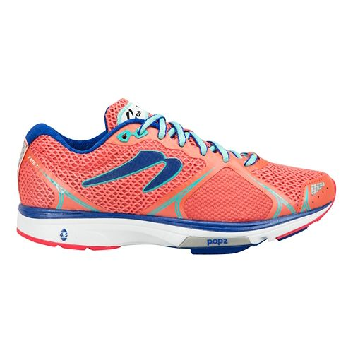 Womens Newton Running Fate III Running Shoe - Coral/Jade 10