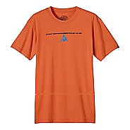 Mens prAna Balance Slim Short Sleeve Non-Technical Tops