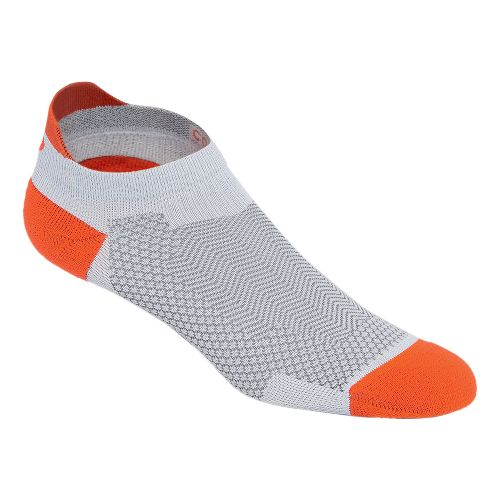 ASICS Cooling Single Tab 3 Pack Socks - Grey/Orange M