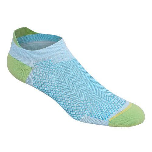 ASICS Cooling Single Tab 3 Pack Socks - Turquoise/Pistachio S