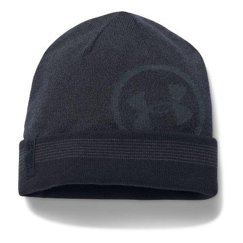 Mens Under Armour CGI Cuff Billboard Beanie Headwear - Black/Graphite