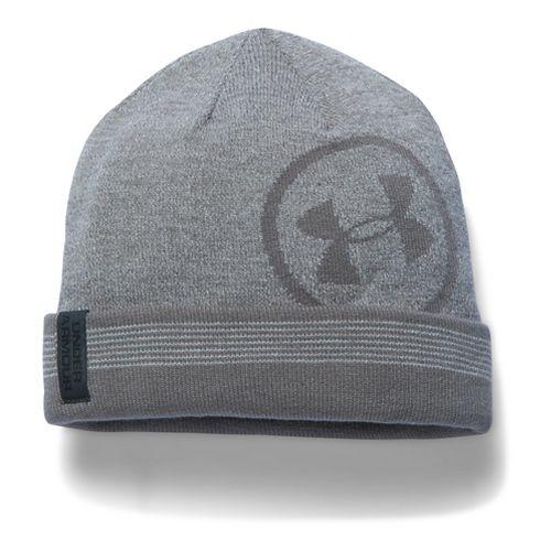 Mens Under Armour CGI Cuff Billboard Beanie Headwear - Steel/Graphite
